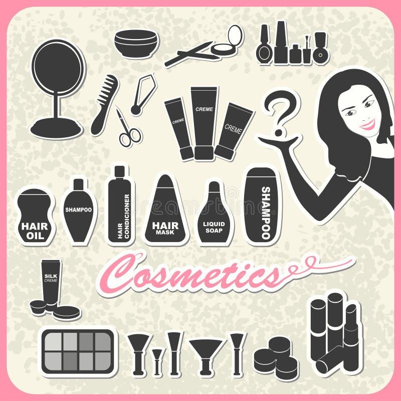 Insieme dei cosmetici illustrazione di stock