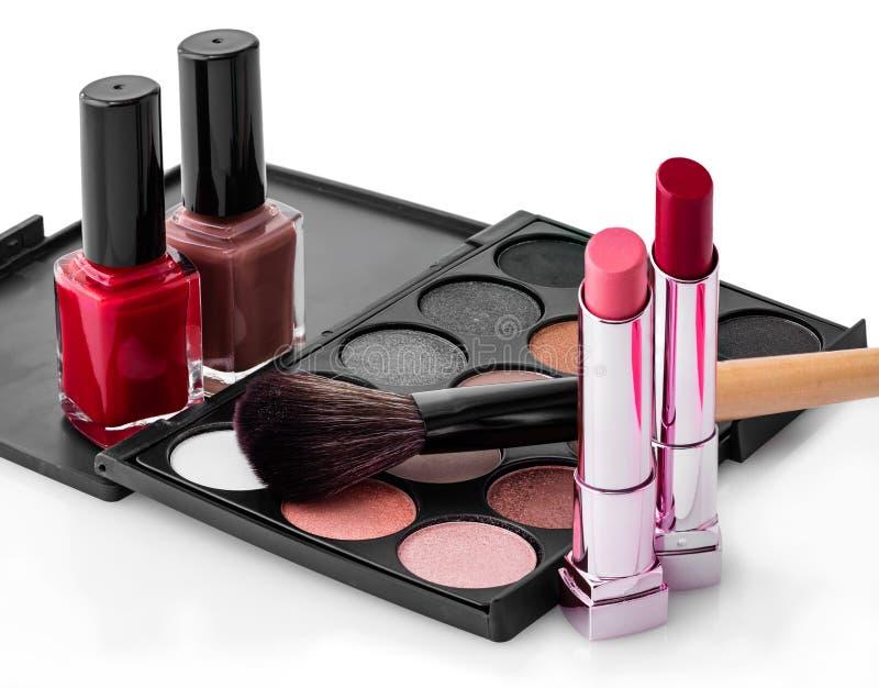 Insieme dei cosmetici femminili immagine stock libera da diritti