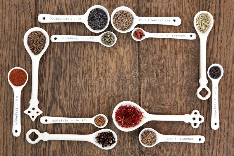 Insieme dei cucchiai misurati fotografia stock