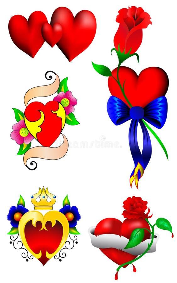 Insieme dei cuori di amore royalty illustrazione gratis