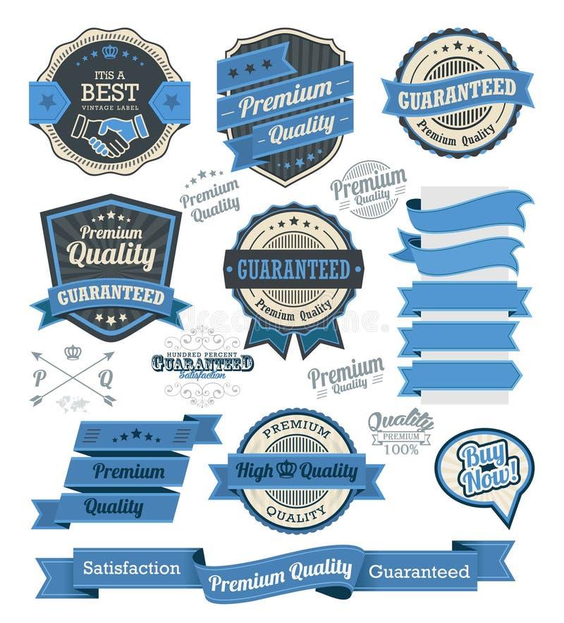 Insieme dei distintivi d'annata e degli elementi di progettazione royalty illustrazione gratis