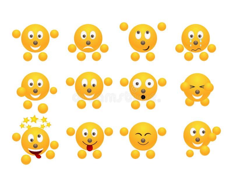 Insieme dei emoticons. illustrazione vettoriale
