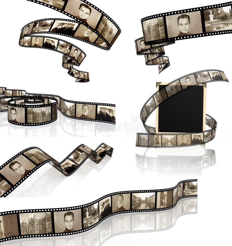 Insieme dei filmstrips illustrazione vettoriale