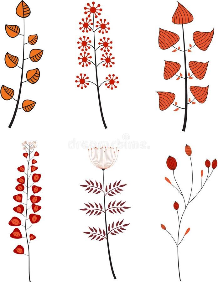 Insieme dei fiori del fumetto illustrazione vettoriale