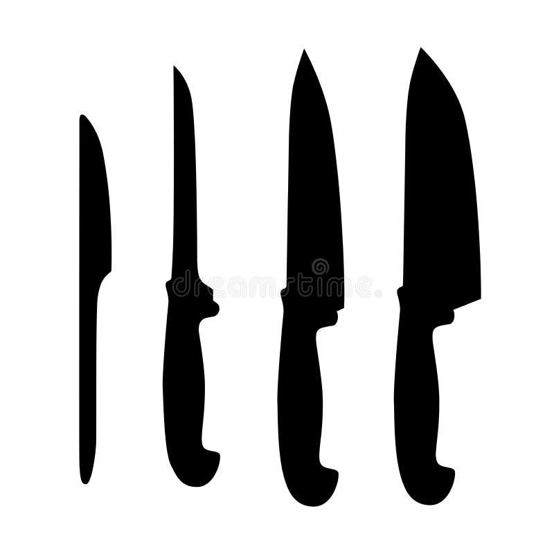 Insieme dei knifes della tabella illustrazione di stock
