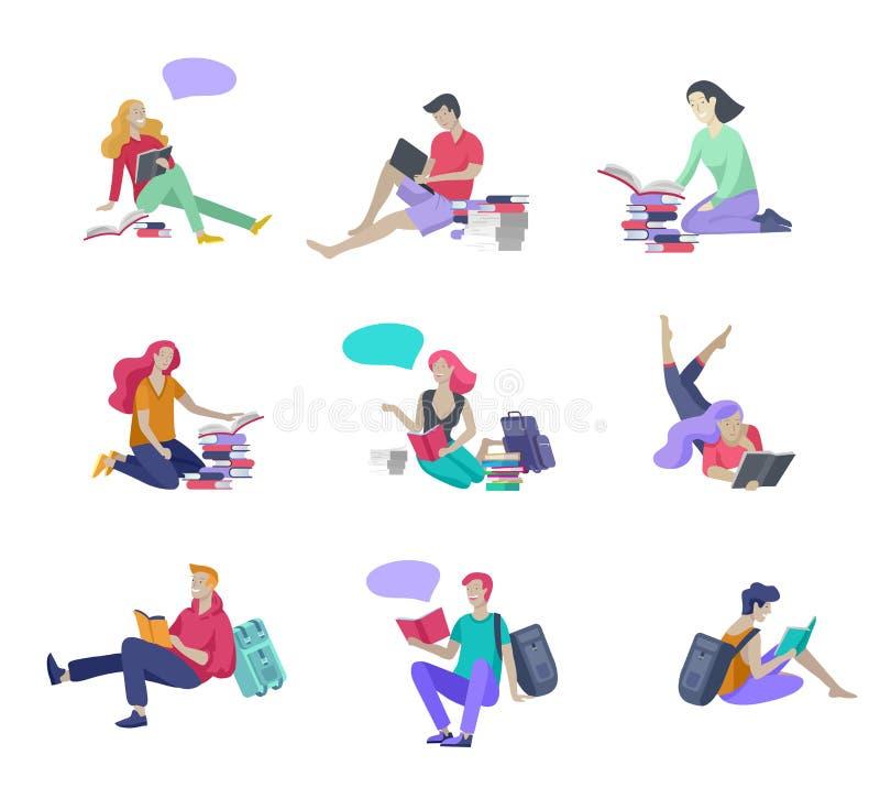 Insieme dei modelli di progettazione della pagina Web per istruzione, formazione ed i corsi online, imparando, video esercitazion illustrazione vettoriale