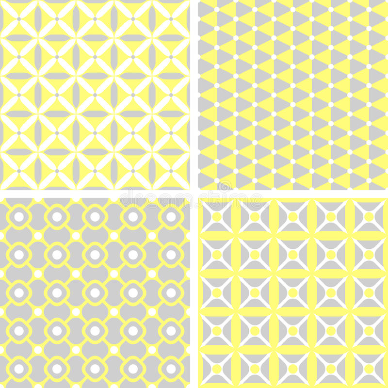 Insieme dei modelli geometrici senza cuciture illustrazione di stock