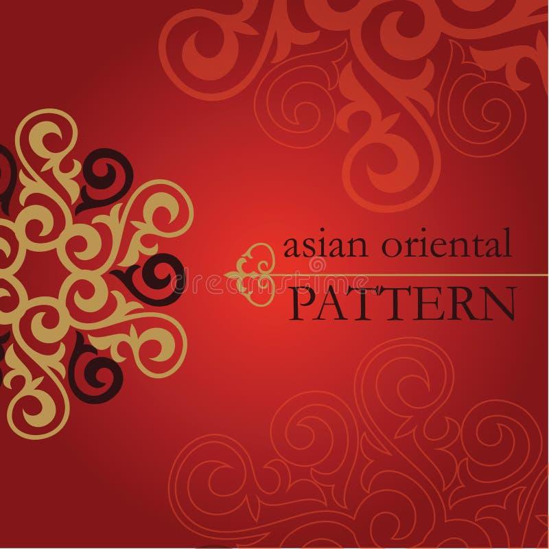 Insieme dei modelli orientali ed asiatici illustrazione vettoriale
