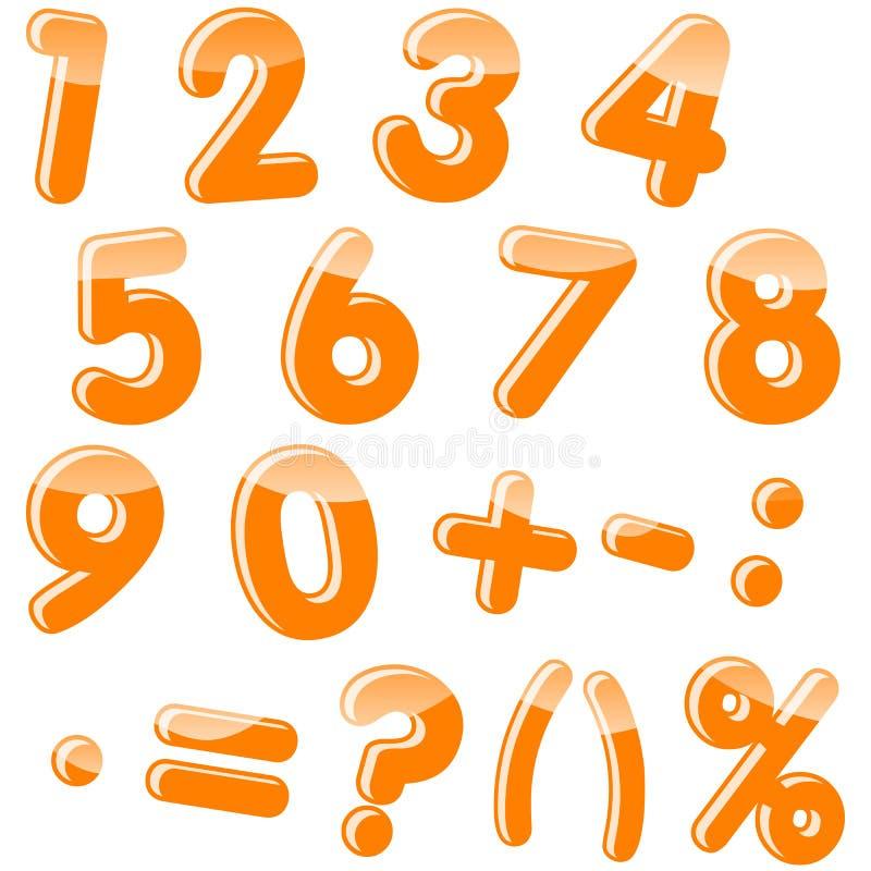 Insieme dei numeri. illustrazione di stock
