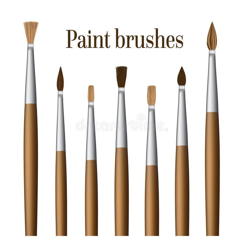 Insieme dei pennelli illustrazione di stock