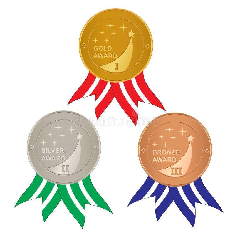 Insieme dei premi illustrazione vettoriale