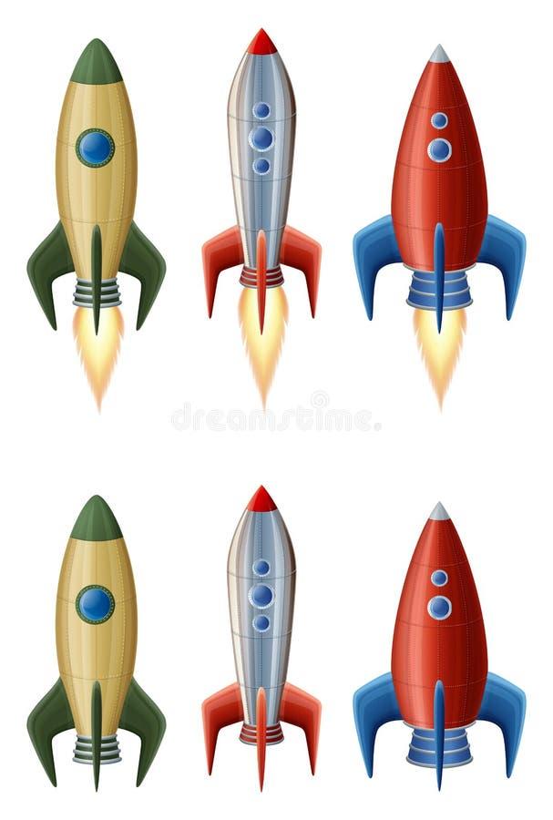 Insieme dei razzi illustrazione vettoriale