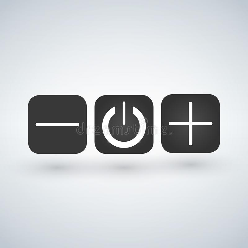 Insieme dei regolatori dei commutatori dei bottoni sopra fuori illustrazione vettoriale
