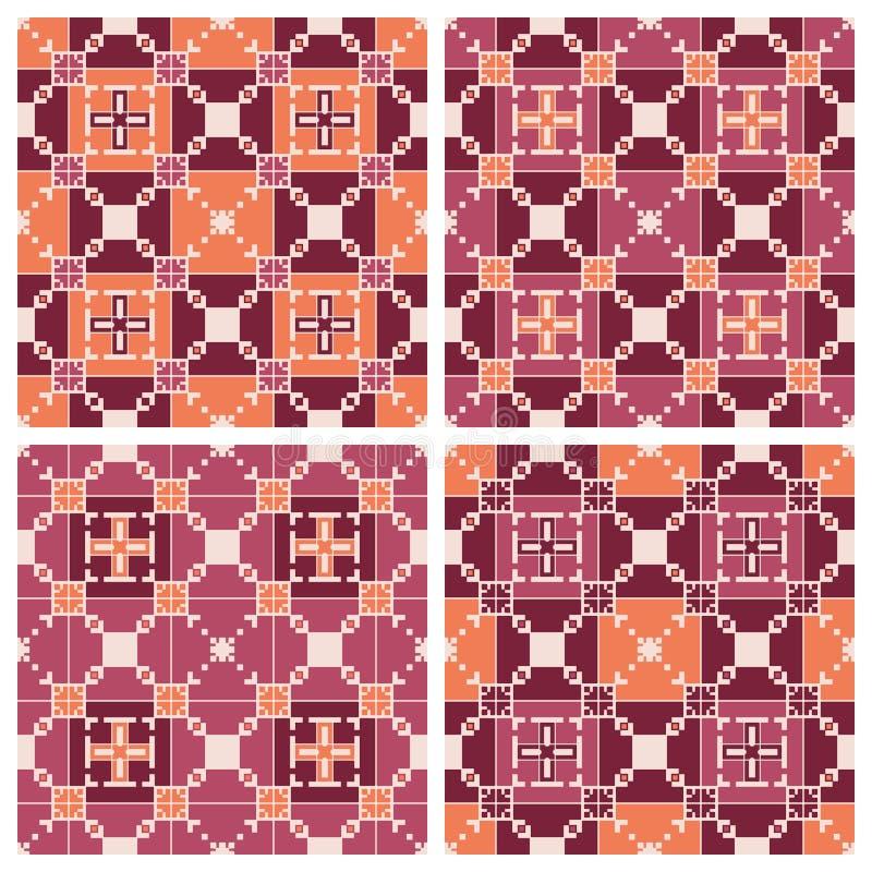 Insieme dei reticoli senza giunte geometrici royalty illustrazione gratis