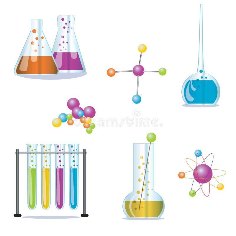 Insieme dei rifornimenti utilizzati nella farmacologia per preparare immagini stock libere da diritti
