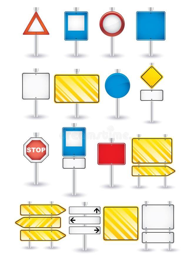 Insieme dei segnali stradali royalty illustrazione gratis