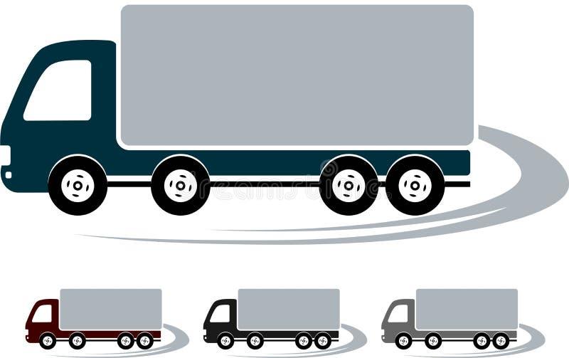 Insieme dei segni con l'immagine del camion royalty illustrazione gratis
