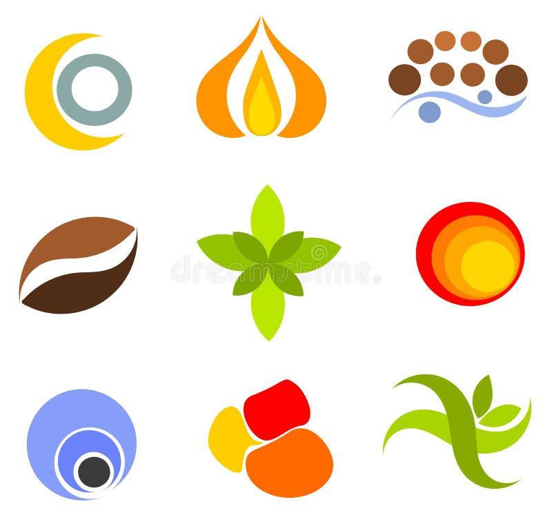 Insieme dei simboli illustrazione di stock
