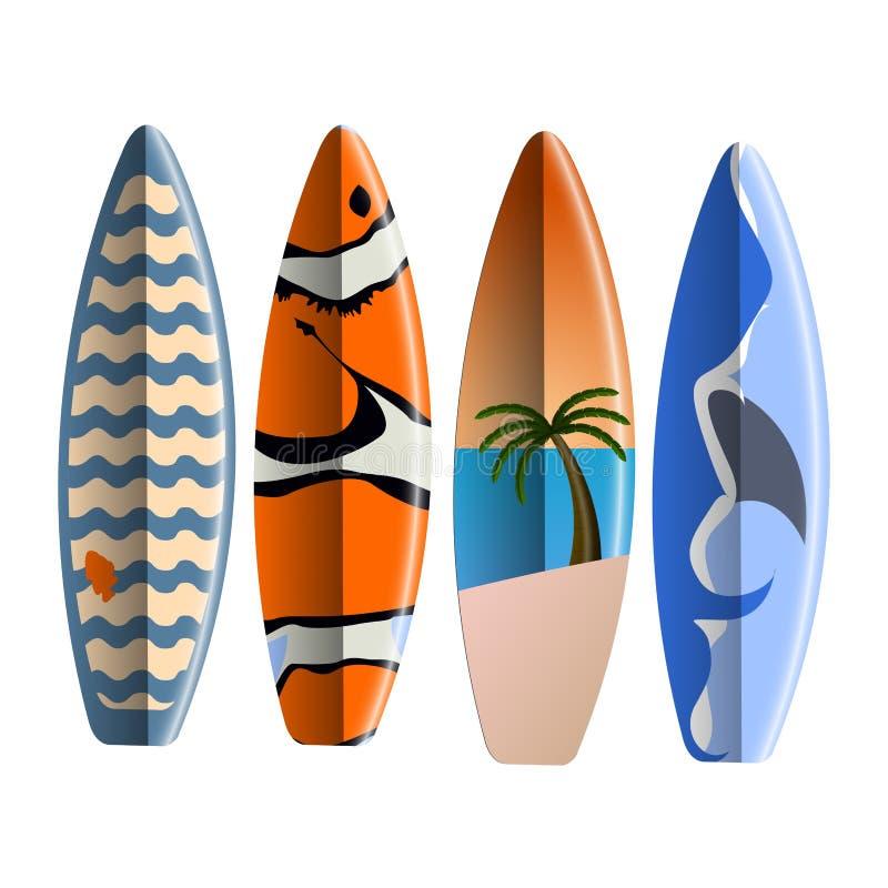 Insieme dei surf illustrazione vettoriale