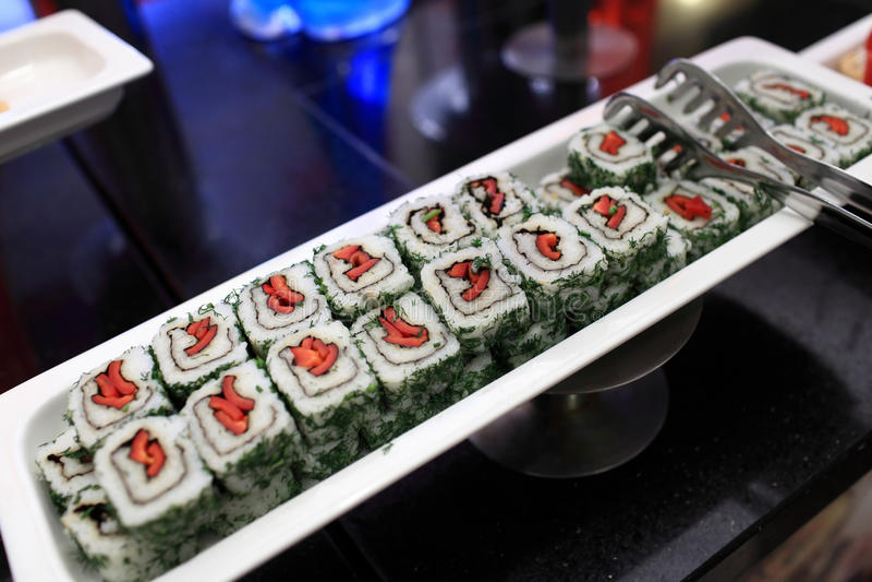 Insieme dei sushi fotografie stock