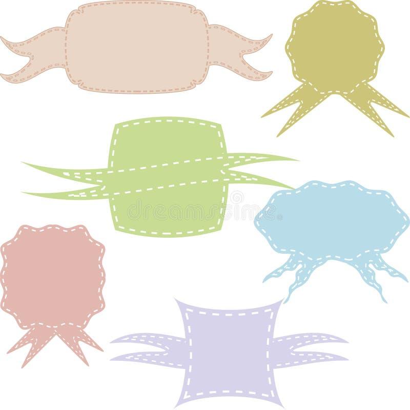 Insieme dei telai d'annata differenti, modelli per l'invito, carta illustrazione di stock