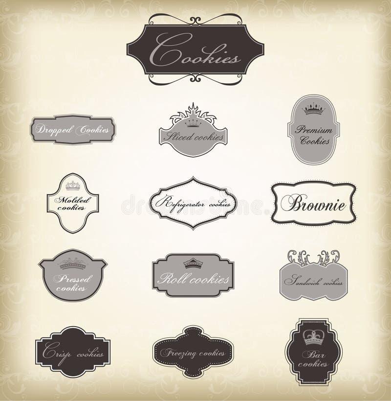 Insieme dei telai dell'annata di vettore royalty illustrazione gratis