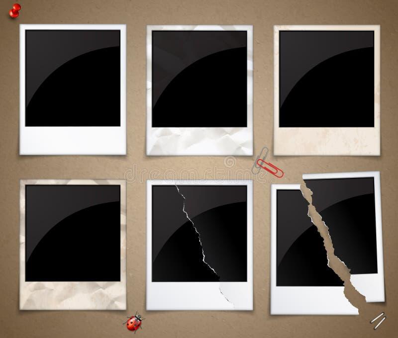 Insieme dei telai della foto illustrazione di stock