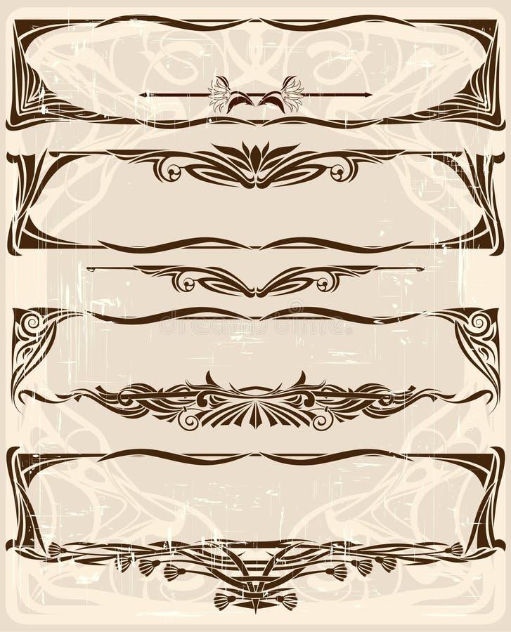 Insieme dei telai horizintal royalty illustrazione gratis