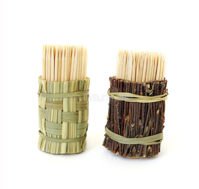 Insieme dei toothpicks fotografie stock