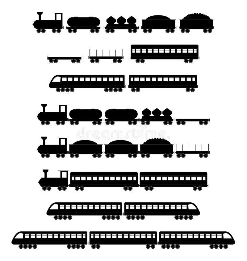 Insieme dei vettori del treno illustrazione di stock