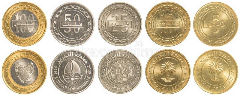 Insieme del Bahrein della raccolta di monete del dinaro immagine stock