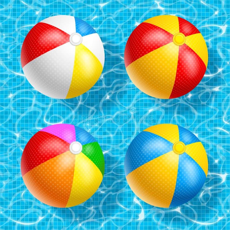 Insieme del beach ball immagine stock libera da diritti