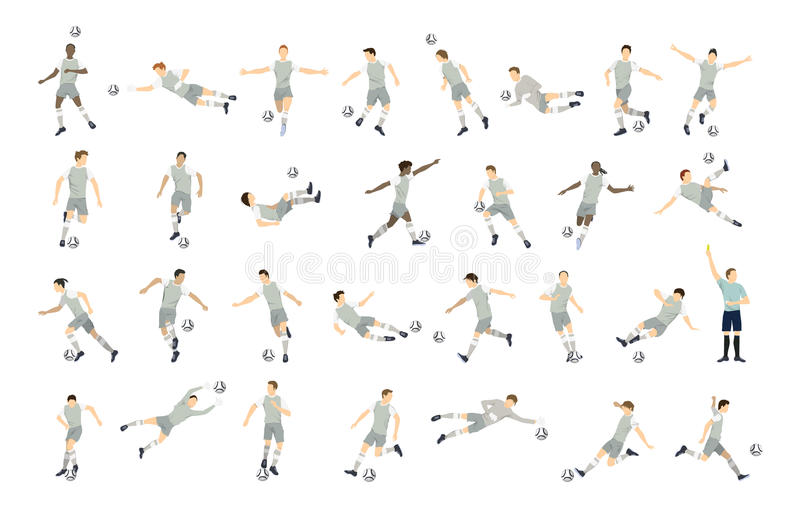 Insieme del calciatore illustrazione di stock