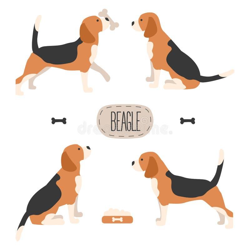 Insieme del cane da lepre del cane royalty illustrazione gratis