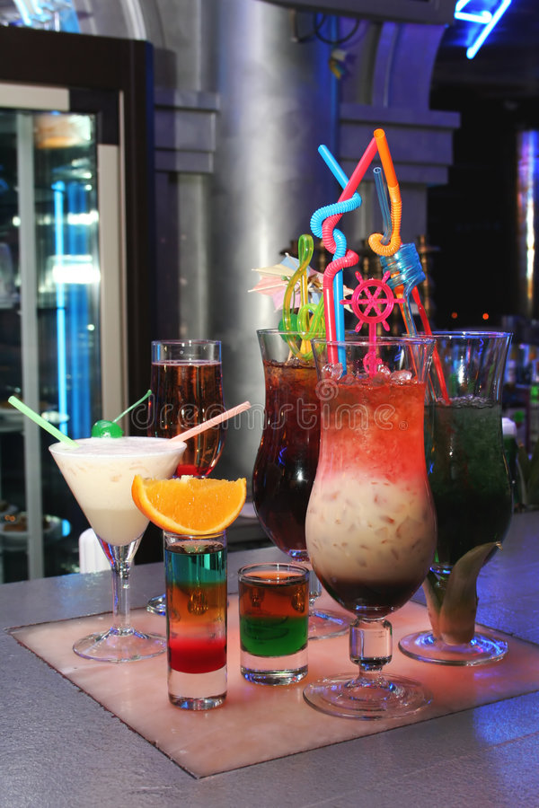 Insieme del cocktail fotografia stock