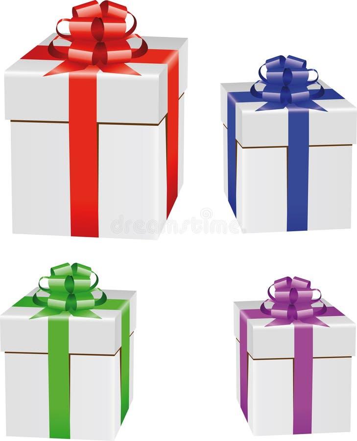 Insieme del contenitore di regalo illustrazione di stock