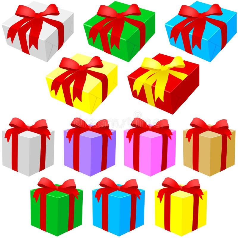Insieme del contenitore di regalo royalty illustrazione gratis
