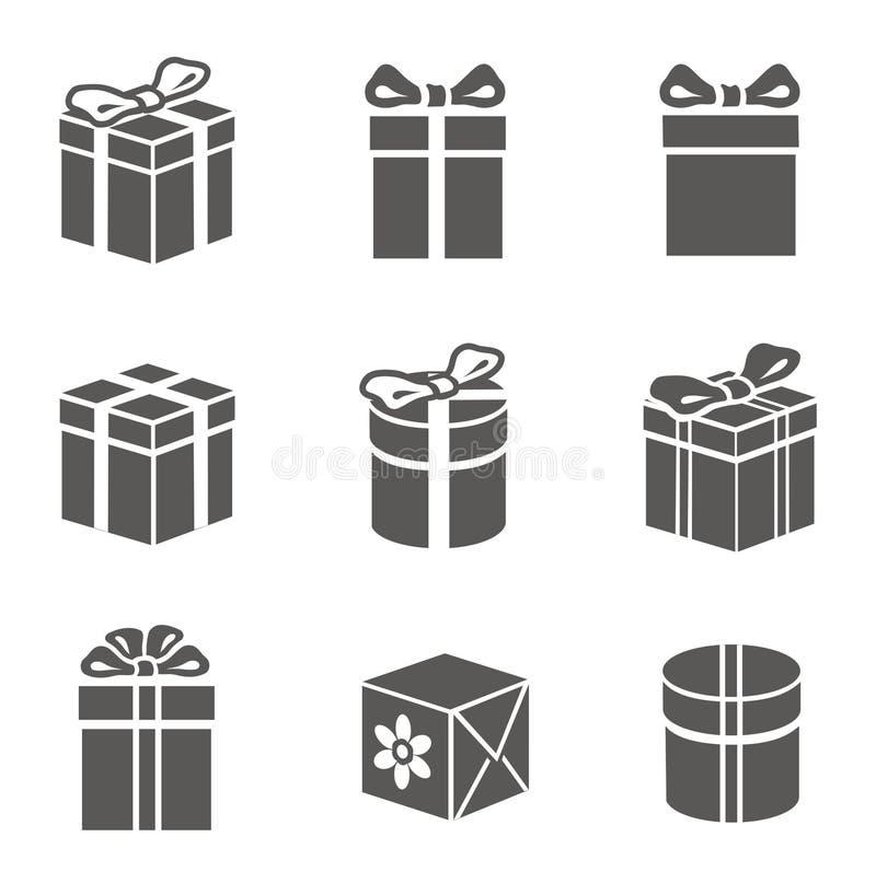 Insieme del contenitore di regalo illustrazione vettoriale