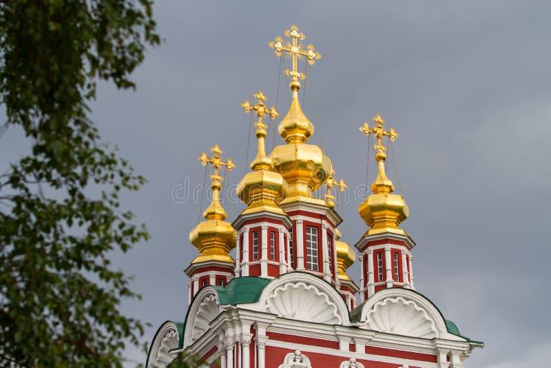 Insieme del convento di Novodevichy a Mosca, Russia fotografia stock
