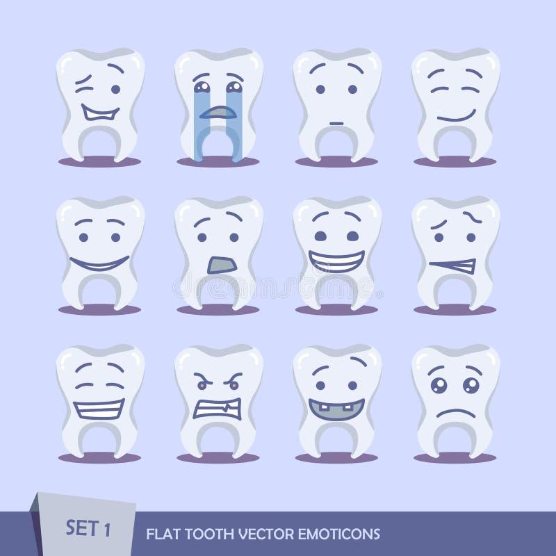 Insieme del dente piano illustrazione vettoriale