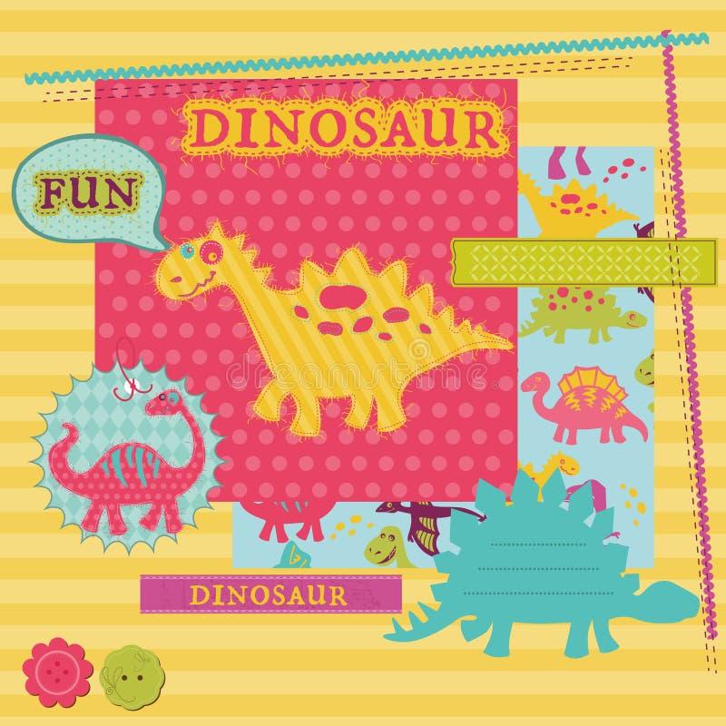 Insieme del dinosauro del bambino illustrazione vettoriale