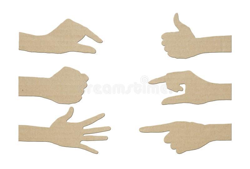 Insieme del documento della mano di gesto illustrazione vettoriale