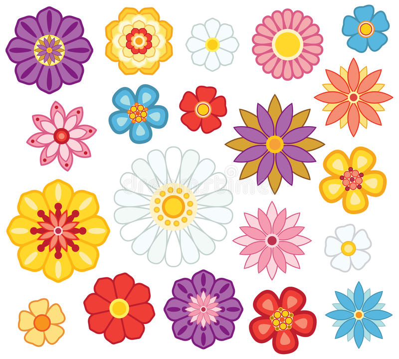 Insieme del fiore immagini stock libere da diritti