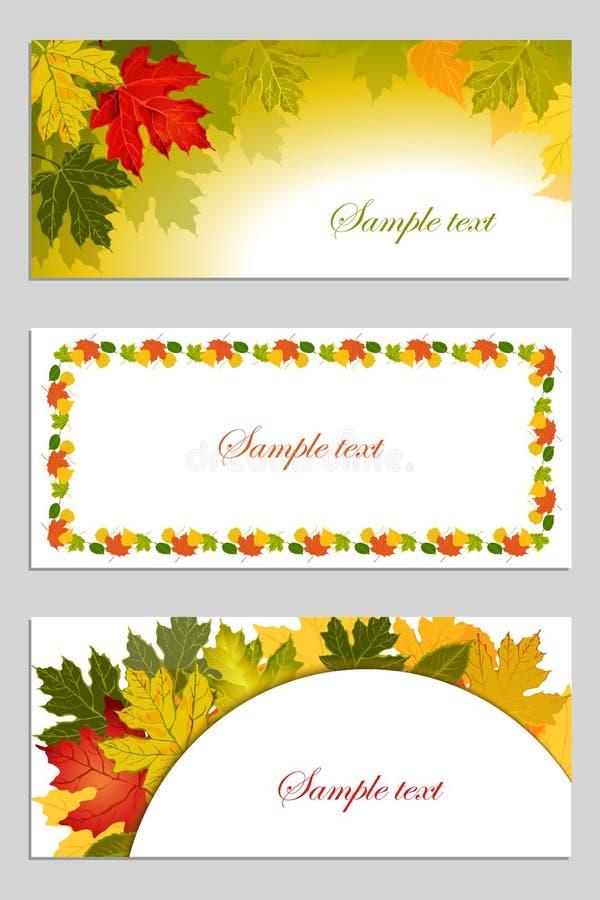 Insieme del fondo delle foglie di autunno royalty illustrazione gratis