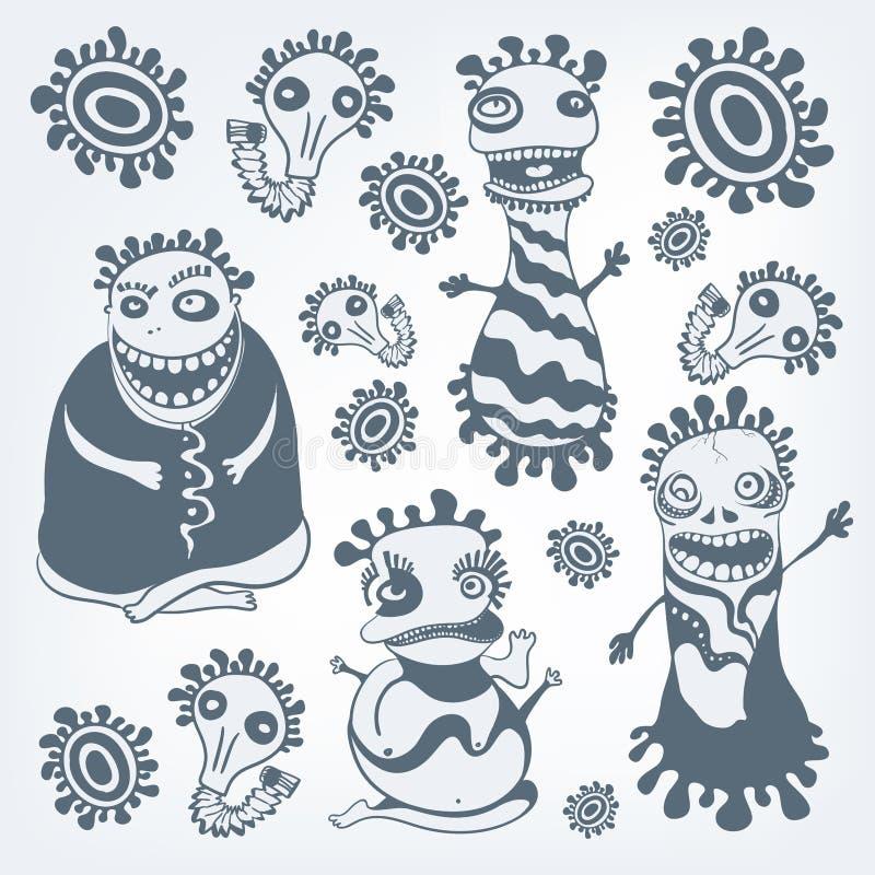 Insieme del Freak royalty illustrazione gratis