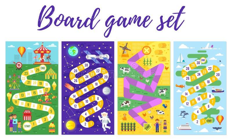 Insieme del gioco da tavolo dei bambini; royalty illustrazione gratis