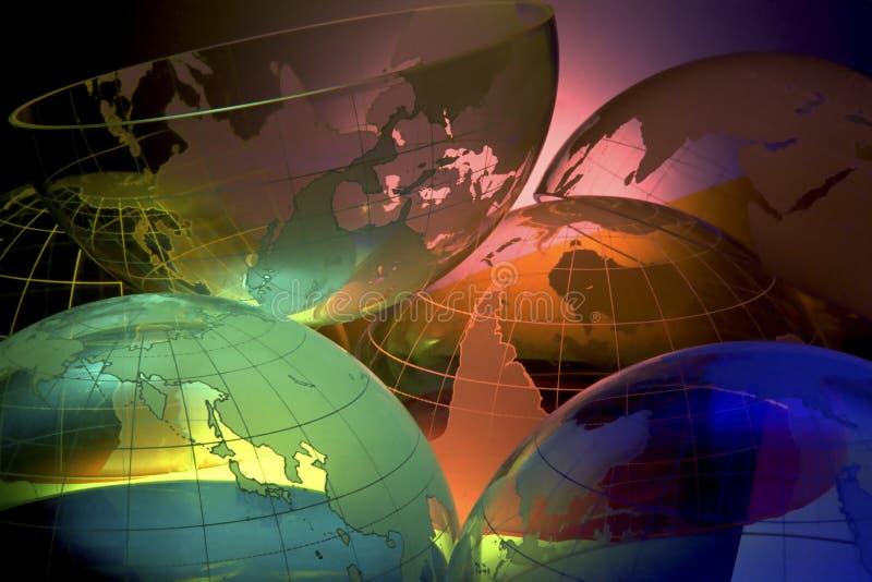 INSIEME DEL GLOBO DI INTERNATIONALWORLD illustrazione vettoriale