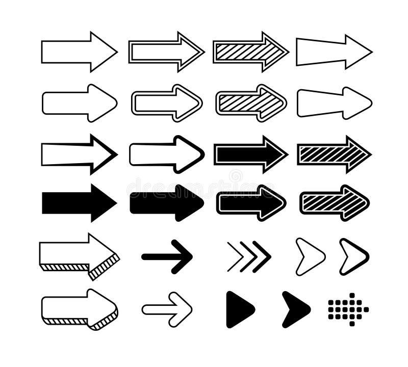 Insieme del grafico delle frecce illustrazione di stock