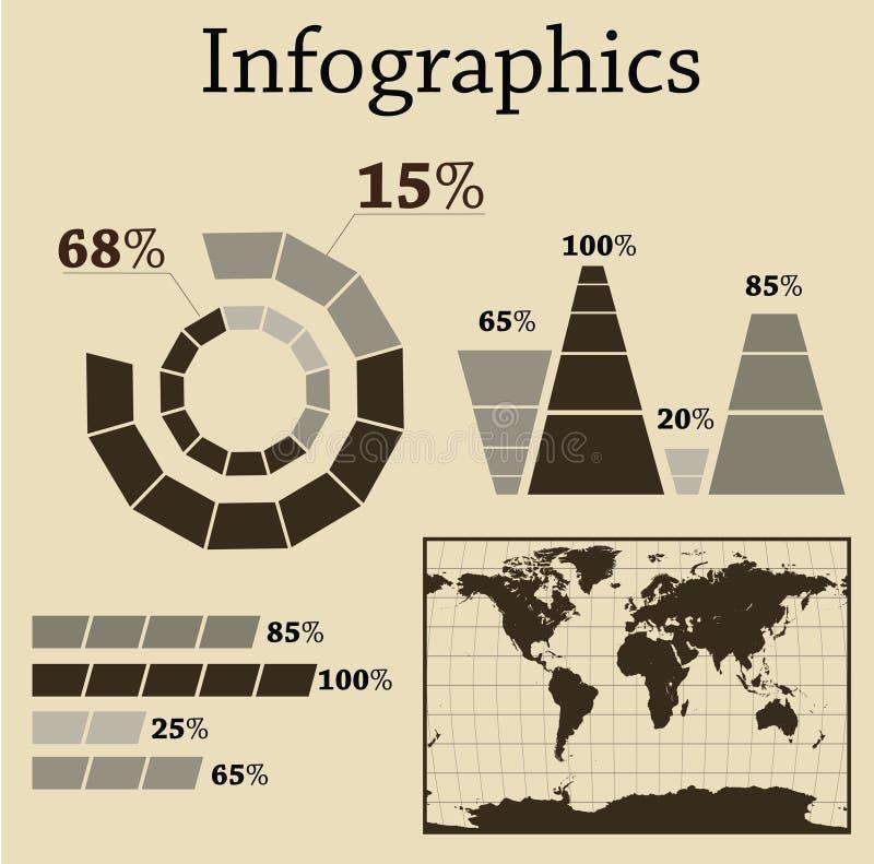 insieme del Info-grafico immagini stock libere da diritti