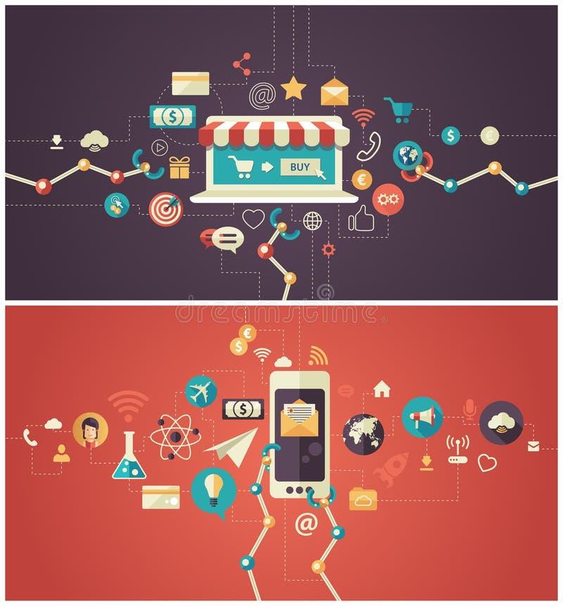 Insieme del infographics piano moderno di affari di progettazione illustrazione vettoriale